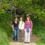 3 walkers at bosloe manor gate