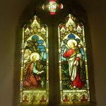 mawnan church stain glass window