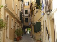 alleyways of Corfu Town Kerkyra